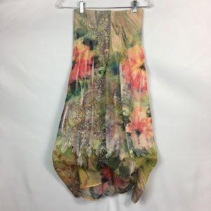 9ba3925f95c5 Anthropologie Dresses - Lapis-Anthropologie Floral Pleated Skirt/Dress
